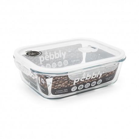Plat/boîte rectangulaire en verre borosilicate 1200ml
