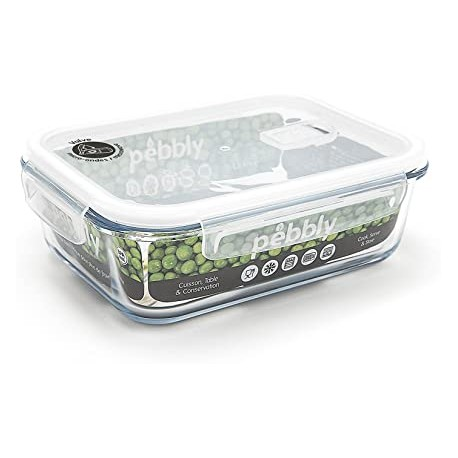 Plat/boîte rectangulaire en verre borosilicate 1500ml