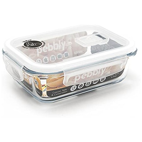 Plat/boîte rectangulaire en verre borosilicate 2250ml