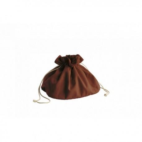 Corbeille/sac à pain en coton biologique avec cordon