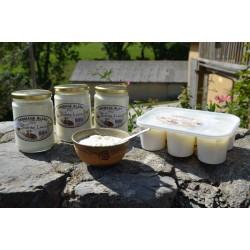 Fromage blanc bio 500g pot en verre. Echange Paysans