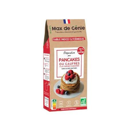 Max de Génie -- Préparation bio IG bas - Pancakes ou Gaufres - 250g