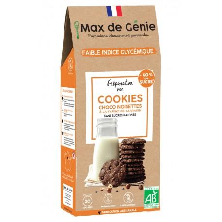 Max de Génie -- Préparation bio IG bas - Cookies choco noisette à la farine de sarrasin - 320g