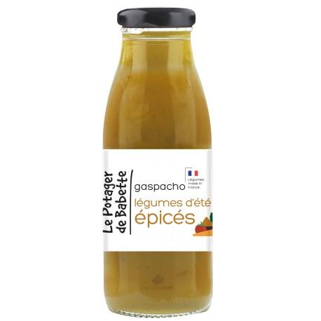 Le Potager de Babette -- Gaspacho bio légumes d'été épicés - 490ml