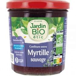 Confiture extra Myrtille sauvage Jardin Bio 320g