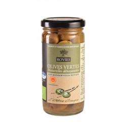 Olives vertes  dénoyautées AOC - Bio Bocal 240g