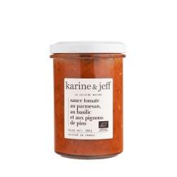 Karine & Jeff -- Sauce tomate au parmesan au basilic et aux pignons de pin 200g