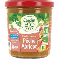 JBE Confiture extra Pêche Abricot 320g