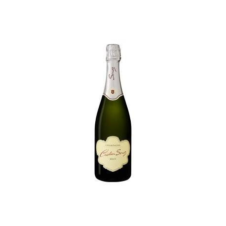Champagne Brut  carte blanche de chez Cristian Senez à Fontette 10360