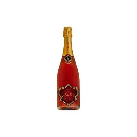 Champagne Brut rosé de Saignée de chez Cristian Senez à Fontette 10360