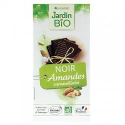Chocolat tablette noir amandes caramélisées 100g