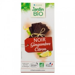 Chocolat tablette noir gingembre citron bio 100g