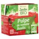 Pulpe de tomates bio au basilic 500g