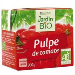 Pulpe de tomates bio sans sel  ajouté 500g