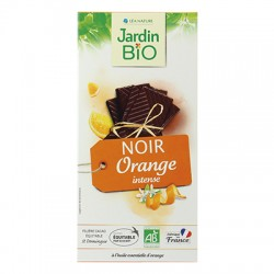 Chocolat tablette noir orange bio 100g