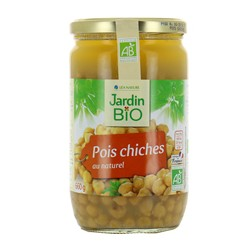 Pois chiches au naturel bio 660g